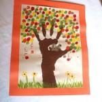 Jesienne drzewko paluszkowe