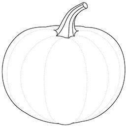 Kolorowanka Halloween - szablon dyni