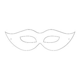 """Kolorowanka-wycinanka """"Maska karnawałowa"""""""