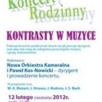 Warszawa – Koncert Rodzinny – 12 lutego 2012