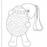 Wielkanocna kolorowanka – Królik Pasztet z pisanką