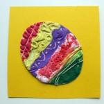 Kartka wielkanocna z plasteliny