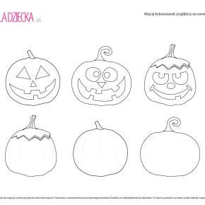 Kolorowanki na Halloween - dyniowe miny