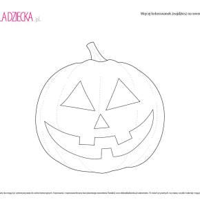 Kolorowanki na Halloween - straszna dynia
