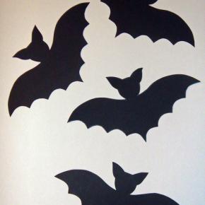 Dekoracje Halloween - nietoperze
