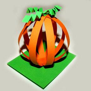 Halloween - papierowa dynia