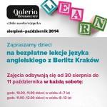 Kraków – Galeria Bronowice – zajęcia z języka angielskiego dla dzieci