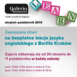 Kraków - Galeria Bronowice - zajęcia z języka angielskiego dla dzieci